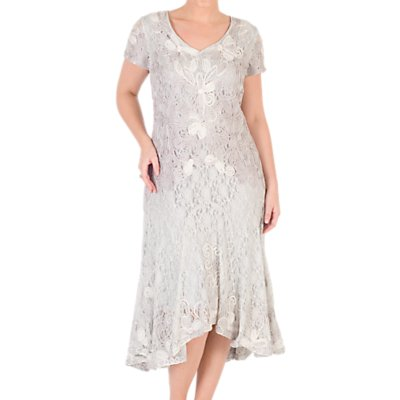 Chesca Ombre Cornelli Lace Dress, Ivory