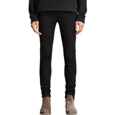 AllSaints Boda Cigarette Jeans, Jet Black
