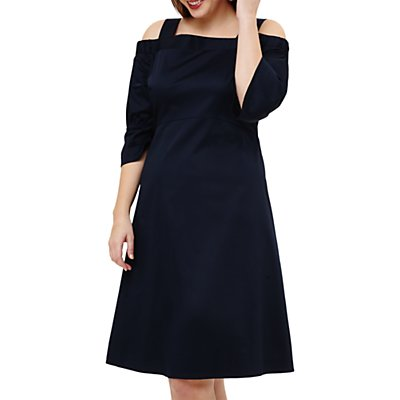 Studio 8 Giana Cold Shoulder Dress, Navy
