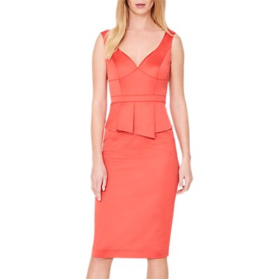 Damsel in a Dress Sienna Peplum Dress, Bright Orange