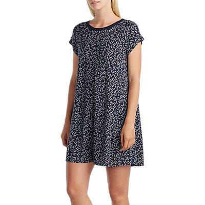 DKNY Turning Heads Short Sleeve Sleep Shirt  Navy - 716273242275