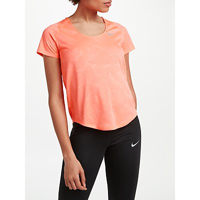 Nike 10k Jacquard Running Top  Crimson Tint - 888413841829