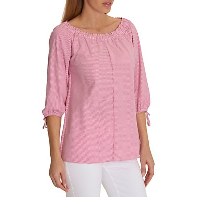 Betty Barclay Tie Sleeve Striped Blouse, Pink/Cream