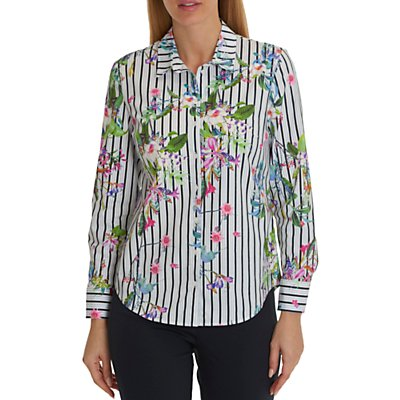 Betty Barclay Floral and Stripe Shirt, Multi