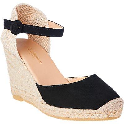 L K  Bennett Harrison Suede Wedge Heel Sandals - 5054760334382