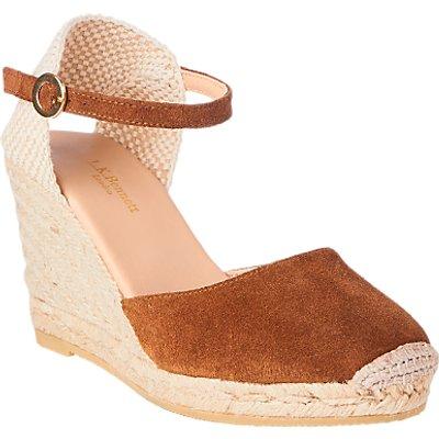 L K  Bennett Harrison Suede Wedge Heel Sandals - 5054760334535