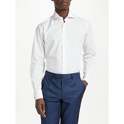 Smyth & Gibson Non Iron Poplin Double Cuff Contemporary Fit Shirt, White