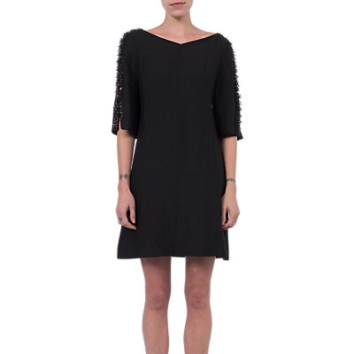 French Connection Dominica Cluster Sleeve Dress  Black - 889042589823