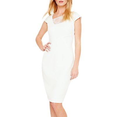 Damsel in a Dress Clivedon Lace Trim Dress, Cream Ivory