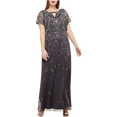 Studio 8 Desiree Beaded Maxi Dress, Grey