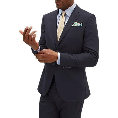 Jaeger Rib Weave Slim Fit Suit Jacket  Navy - 5054594295385