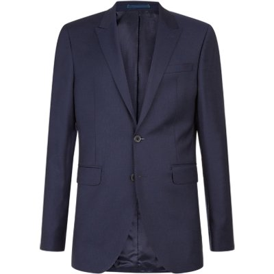 Jaeger Slim Fit Raised Texture Suit Jacket  Navy - 5054594364326