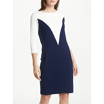 Winser London Elizabeth Dress, Ivory/Midnight Navy