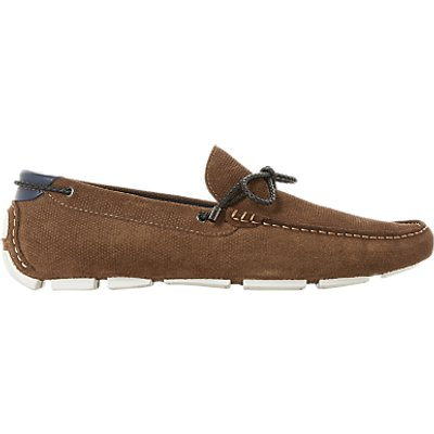 Dune Bluewater Suede Driver Loafer - 5057661006686