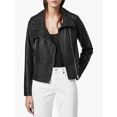 AllSaints Bales Biker Jacket, Black