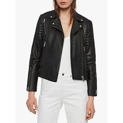 AllSaints Papin Biker Jacket, Black