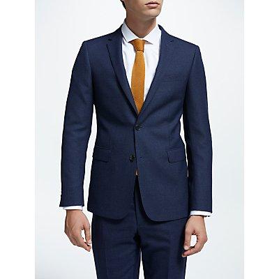 Kin by John Lewis Milled Semi Plain Slim Fit Suit Jacket  Blue - 24726191