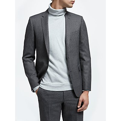 Kin by John Lewis Puppytooth Slim Fit Suit Jacket  Charcoal Burgundy - 24726856