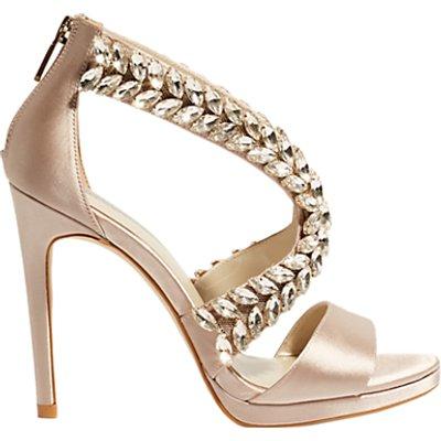 Karen Millen Jewel Stiletto Heel Sandals, Nude