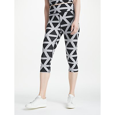 PATTERNITY   John Lewis Triangle Print Cropped Leggings  Black White - 24438513
