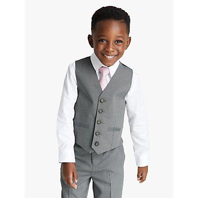 John Lewis & Partners Heirloom Collection Boys' Suit Waistcoat, Grey