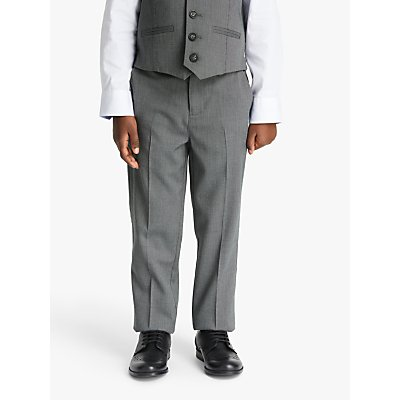 John Lewis & Partners Heirloom Collection Boys' Suit Trousers, Grey