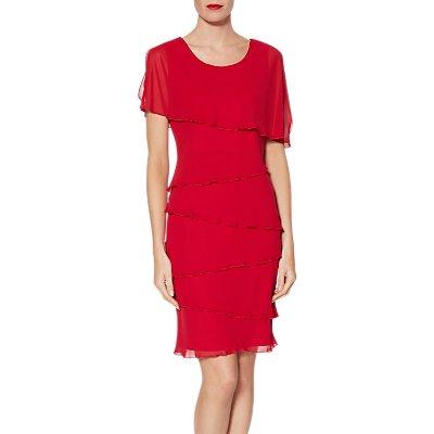 Gina Bacconi Leonora Tiered Chiffon Dress