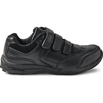 John Lewis & Partners Children's Suffolk Triple Riptape Shoes, Black