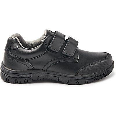 John Lewis & Partners Children's Cumbria Double Riptape Shoes, Black