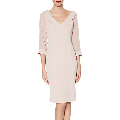 Gina Bacconi Cynthia Crepe Chiffon Dress, Apricot Crush