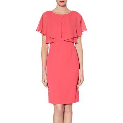 Gina Bacconi Flora Crepe And Chiffon Dress