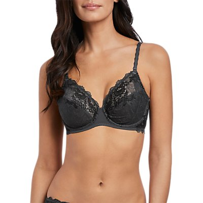 Wacoal Lace Perfection Underwired Bra, Charcoal