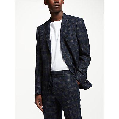 Kin by John Lewis Check Slim Fit Suit Jacket  Navy - 5057618045966