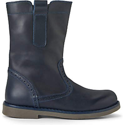 John Lewis & Partners Children's Isobel Leather Boots, Navy