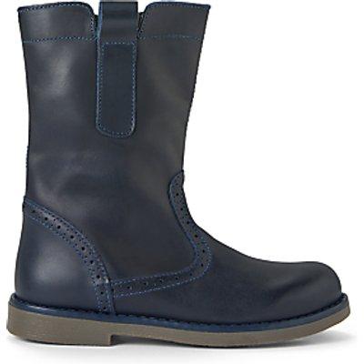 John Lewis & Partners Children's Isobel Leather Boots, Navy