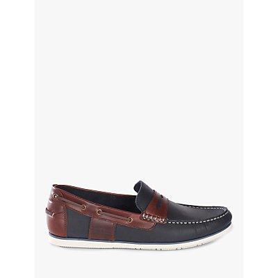 Barbour Keel Saddle Loafers, Navy