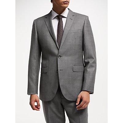 John Lewis & Partners Zegna Check Suit Jacket, Grey