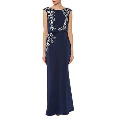 Gina Bacconi Carmen Beaded Maxi Dress