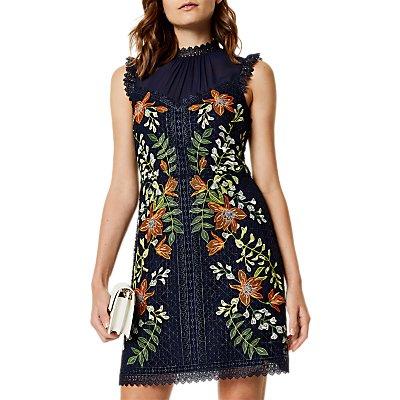 Karen Millen Wisteria Dress, Blue/Multi