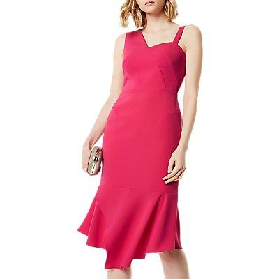 Karen Millen One Shoulder Dress, Fuschia