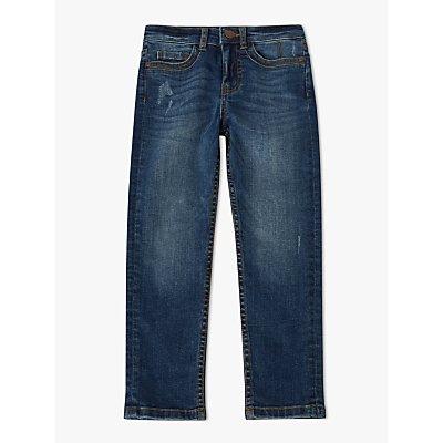 John Lewis & Partners Boys' Skinny Jeans, Mid Wash Denim, Blue