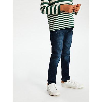 John Lewis & Partners Boys' Skinny Jeans, Dark Wash
