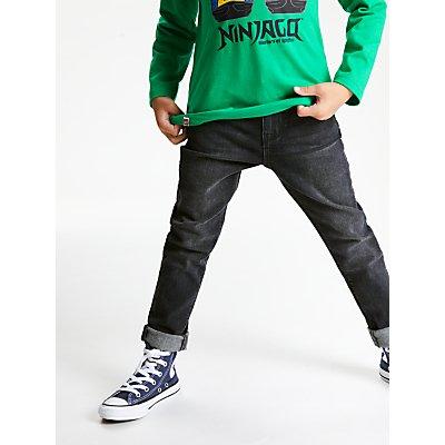 John Lewis & Partners Boys' Skinny Jeans, Black