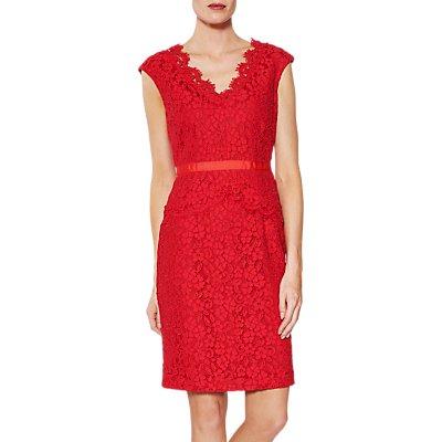 Gina Bacconi Audrey Lace Peplum Dress