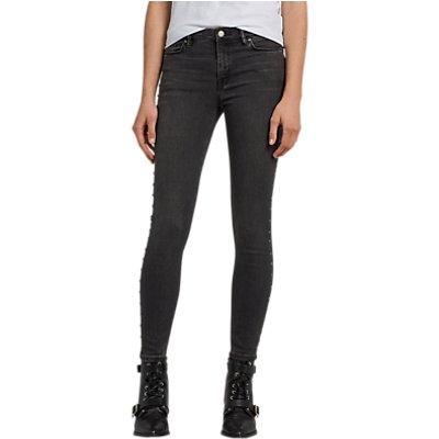 AllSaints Grace Studded Ankle Grazer  Washed Black - 5057055306071