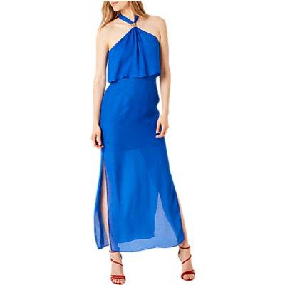 Damsel in a dress Leopard Jacquard Maxi Dress, Blue
