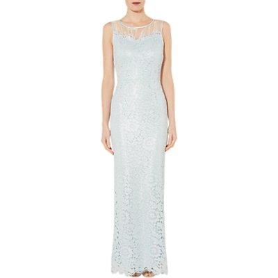 Gina Bacconi Heather Floral Lace Maxi Dress