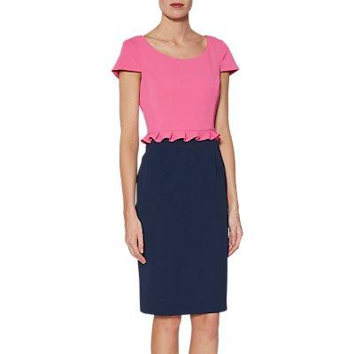 Gina Bacconi Trudy Colour Block Dress, Pink/Multi