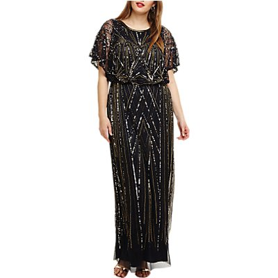 Studio 8 Hermione Beaded Maxi Dress, Navy