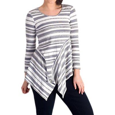 Chesca Stripe Jersey Top, Multi